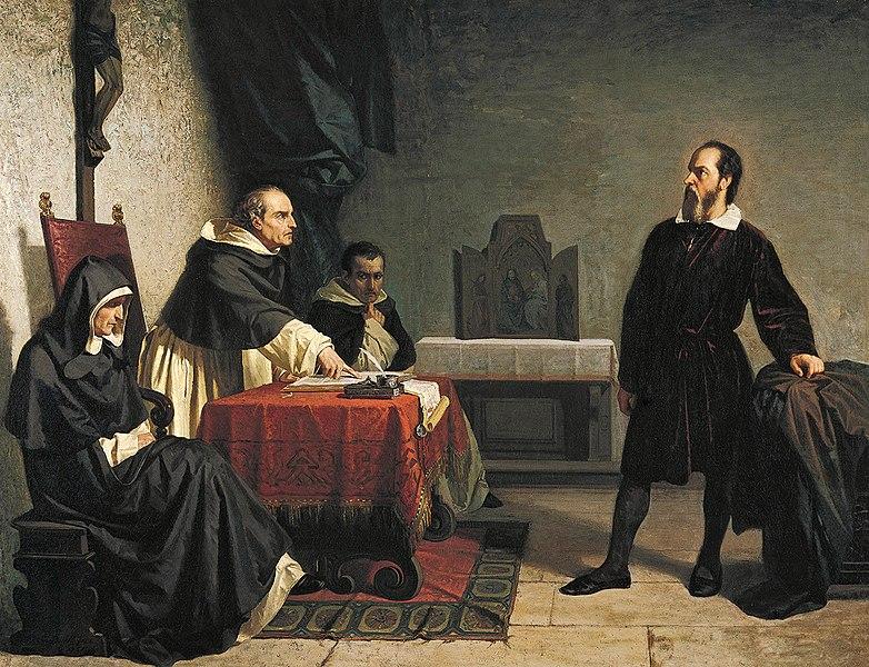 Cristiano Banti Pintura que mostra Galilea cara á Inquisición.'Inquisition.